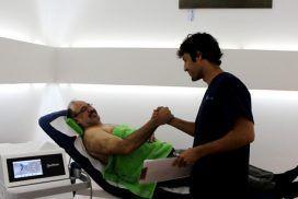 Tratamiento por ondas de choque en calcificación de hombro.