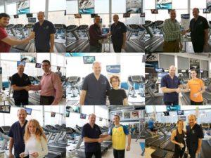 Estudio de la pisada en Go-Fit corporate, gimnasio en Movistar Distrito C Las tablas Madrid.