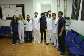 Estudiantes universitarios de prácticas en Fisiolution Las Tablas