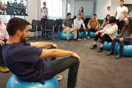 Taller Workball, ejercicios con balón para combatir el sedentarismo